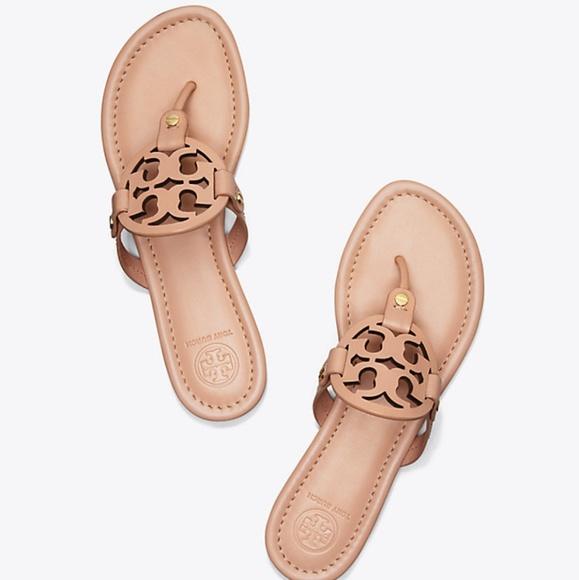 0335ef7699da2b BNWT Tory Burch Miller Light Make Up Sandals